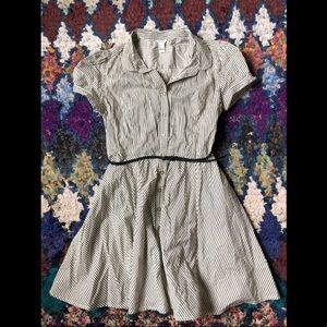 Flared shirt dress with belt